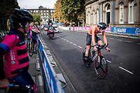 Enzo Leijnse (NED) underway to his silver medal at the Men Junior Individual Time Trial<br /> <br /> 2019 Road World Championships Yorkshire (GBR)<br /> <br /> ©kramon