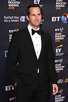 Sir Ben Ainslie arriving for the BT Sport Industry Awards 2018 at the Battersea Evolution, London, UK. <br /> 26 April  2018<br /> Picture: Steve Vas/Featureflash/SilverHub 0208 004 5359 sales@silverhubmedia.com