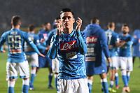 Jose' Maria Callejon celebrates <br /> Bergamo 3-12-2018 Stadio Atleti Azzurri d'italia Football Calcio Serie A 2018/2019 Atalanta - Napoli Foto Matteo Gribaudi / Image Sport / Insidefoto