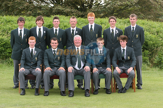 The Irish Team on the Final Day of the 2012 Boys Home Internationals at Co.Louth Golf Club in Baltray, Co.Louth...(Photo credit should read Jenny Matthews/NEWSFILE)...