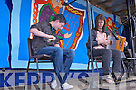 Adrian Walsh and Natasha Sheehy from Ballagh preforming in the bones playing competition last Sunday afternoon for the Fleadh by the Feale in Abbeyfeale.