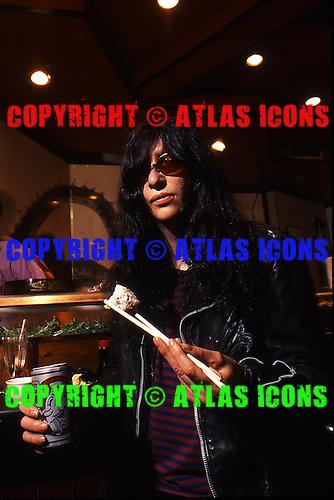Joey Ramone ; The Ramones;  In New York City, Creem Magazine Boy Howdie Session; <br /> Photo Credit: Eddie Malluk/Atlas Icons.com