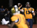 Althoff quarterback throws to wide receiver Jayden Cosey. Mater Dei played football at Althoff on Friday September 13, 2019. <br /> Tim Vizer/Special to STLhighschoolsports.com