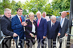 Minister Heather Humphries cuts the tape to officially open Killarney House and Gardens on Monday l-r: Pat Dawson, Minister Brendan Griffin, Minister Heather Humphries, former Minister Jimmy Dennihan, Harry O'Donoghue, Paul Coughlan and