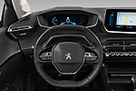 Car pictures of steering wheel view of a 2020 Peugeot 208 Allure 5 Door Hatchback