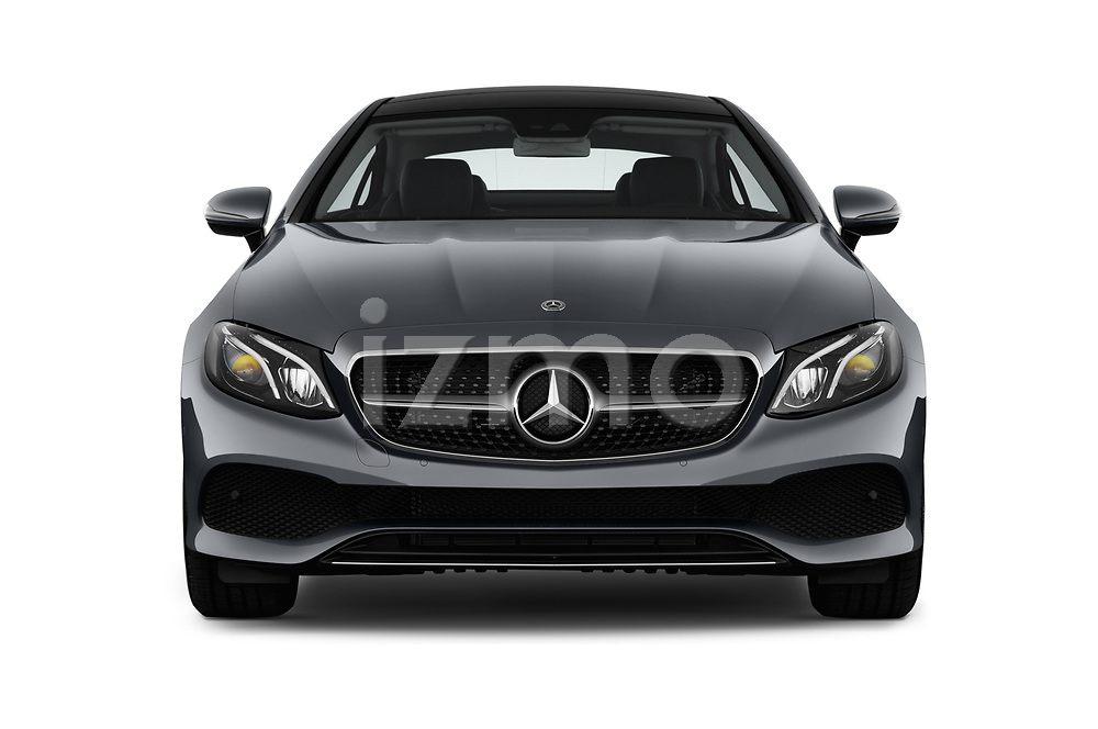 Car photography straight front view of a 2018 Mercedes Benz E Class Executive 2 Door Coupe