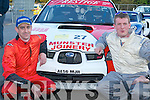 STARS: Motor sports stars Alan Ring and Adrian Deasy prepare for Rally of the Lakes in Killarney last Friday evening..