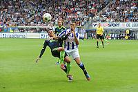 VOETBAL: HEERENVEEN: Abe Lenstra Stadion, 02-09-2012, Eredivisie 2012-2013, SC Heerenveen - Ajax, Eindstand 2-2, Tobias Sana (#19), Oussama Tannane (#30), ©foto Martin de Jong