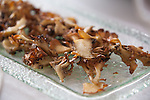 Roasted maitake mushrooms at JiRaffe Restaurant, Santa Monica, CA