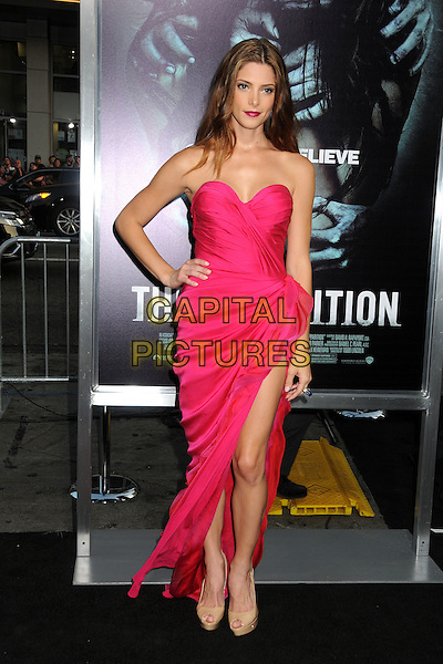 "Ashley Greene.""The Apparition"" Los Angeles Special Screening held at Grauman's Chinese Theatre, Hollywood, California, USA..August 23rd, 2012.full length dress slit split hand on hip beige peep toe shoes pink strapless   .CAP/ADM/BP.©Byron Purvis/AdMedia/Capital Pictures."