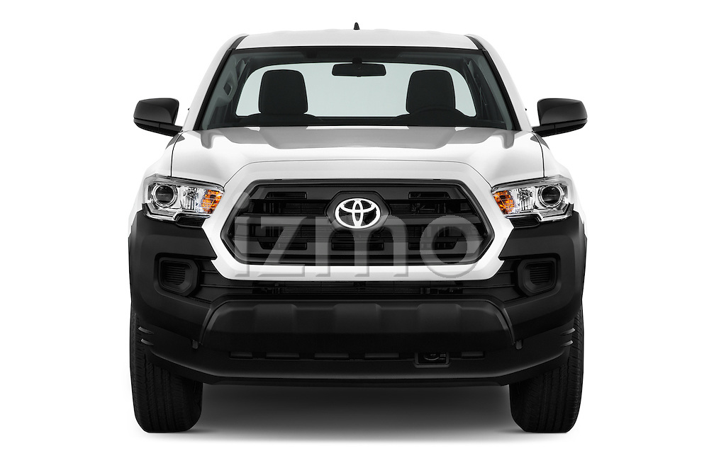 Car photography straight front view of a 2017 Toyota Tacoma SR-Access 4 Door Pick-up Front View