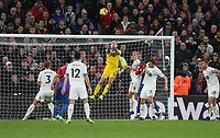 Burnley's Joe Hart punches clear<br /> <br /> Photographer Rob Newell/CameraSport<br /> <br /> The Premier League - Saturday 1st December 2018 - Crystal Palace v Burnley - Selhurst Park - London<br /> <br /> World Copyright &copy; 2018 CameraSport. All rights reserved. 43 Linden Ave. Countesthorpe. Leicester. England. LE8 5PG - Tel: +44 (0) 116 277 4147 - admin@camerasport.com - www.camerasport.com