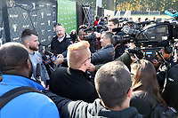 TUKWILA, WA - NOVEMBER 08: Quentin Westberg #16 of Toronto FC talks to the media at Starfire Sports Complex on November 08, 2019 in Tukwila, Washington.