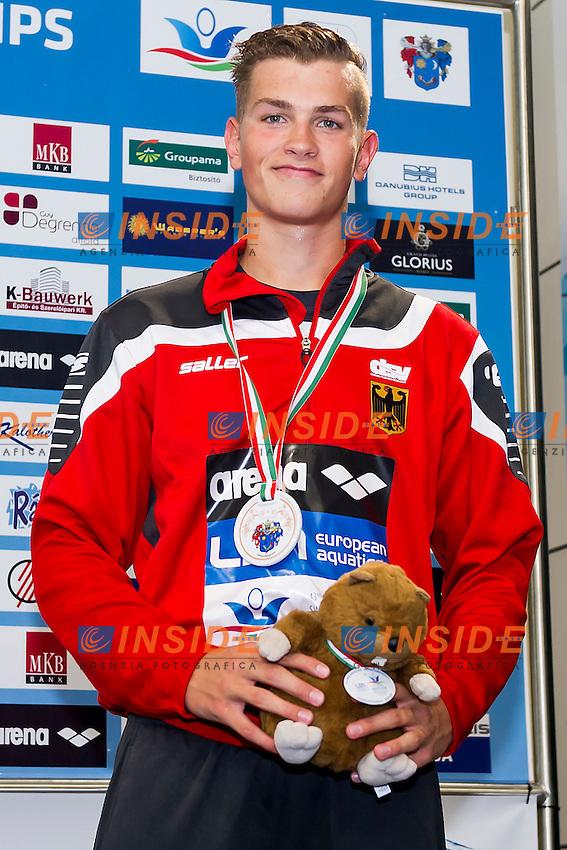 Bermel Thore GER<br /> 800 Freestyle Men Final Bronze Medal<br /> LEN 43rd Arena European Junior Swimming Championships<br /> Hodmezovasarhely, Hungary <br /> Day04 09-07-2016<br /> Photo Andrea Masini/Deepbluemedia/Insidefoto