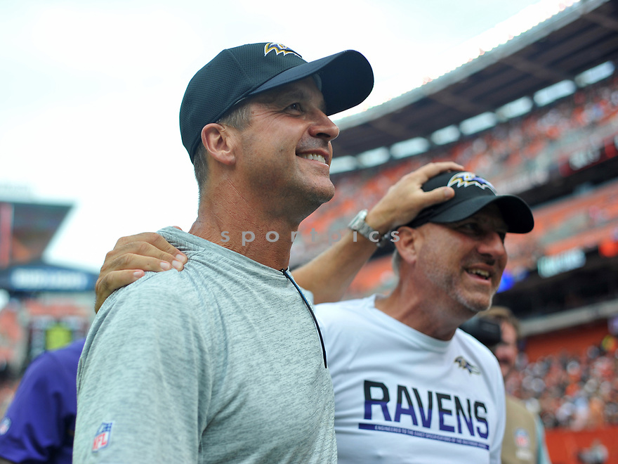 CLEVELAND, OH - JULY 18, 2016: Head coach John Harbaugh of the Baltimore Ravens walks off the field after a game against the Cleveland Browns on July 18, 2016 at FirstEnergy Stadium in Cleveland, Ohio. Baltimore won 25-20. (Photo by: 2017 Nick Cammett/Diamond Images)  *** Local Caption *** John Harbaugh(SPORTPICS)