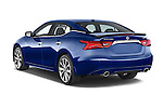 Car pictures of rear three quarter view of 2018 Nissan Maxima SR 4 Door Sedan Angular Rear