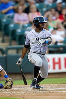 Omaha Storm Chasers outfielder Derrick Robinson #26 at bat during the Pacific Coast League baseball game against the Round Rock Express on July 22, 2012 at the Dell Diamond in Round Rock, Texas. The Express defeated the Chasers 8-7 in 11 innings. (Andrew Woolley/Four Seam Images).