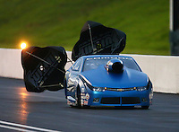 Jun 20, 2015; Bristol, TN, USA; NHRA pro stock driver Bo Butner during qualifying for the Thunder Valley Nationals at Bristol Dragway. Mandatory Credit: Mark J. Rebilas-