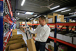 Jochen Bessemans, Ridley PR & Marketing Manager shows me around the factory in Paal-Beringen, Belgium, 21st March 2013 (Photo by Eoin Clarke 2013)