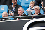 Sir Alex Ferguson and Albert Morgan during the Barclays Premier League match at Old Trafford. Photo credit should read: Philip Oldham/Sportimage