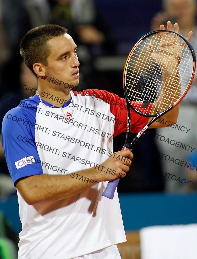 Tenis, .SERBIA OPEN 2010.Viktor Troicki Vs. Ivan Navarro.Viktor Troicki, returnes.Belgrade, 03.05.2010..foto: Srdjan Stevanovic/Starsportphoto ©