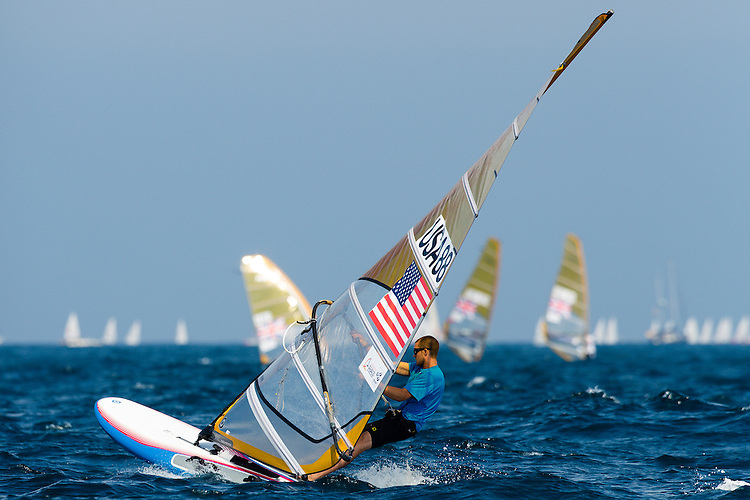SANTANDER, SPAIN - SEPTEMBER 13:  RS:X Men - USA88 - Sean Kelly in action during Day 2 of the 2014 ISAF Sailing World Championships on September 13, 2014 in Santander, Spain.  (Photo by MickAnderson/SAILINGPIX via Getty Images)