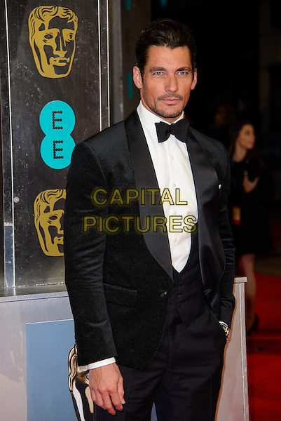 LONDON, ENGLAND - FEBRUARY 16: David Gandy attends EE British Academy Film Awards in 2014  at the Royal Opera House on February 16, 2014 in London, England.<br /> CAP/CJ<br /> &copy;Chris Joseph/Capital Pictures