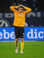 FUSSBALL   1. BUNDESLIGA    SAISON 2012/2013    11. Spieltag   FC Schalke - 04 Werder Bremen                              10.11.2012 Sebastian Mielitz (SV Werder Bremen) ist nach dem Abpfiff enttaeuscht