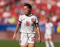FRISCO, TX - MARCH 11: Mapi Leon #16 of Spain watches the ball during a game between England and Spain at Toyota Stadium on March 11, 2020 in Frisco, Texas.