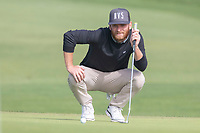 25th January 2020, Torrey Pines, La Jolla, San Diego, CA USA;  Tyler McCumber lines up his put on the 5th hole during round 3 of the Farmers Insurance Open at Torrey Pines Golf Club on January 25, 2020