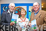 At the launch of 'My Lord Buddha of Carraig Éanna' a new collection of Poetry from Paddy Bushe at the Tech Amergin Centre in Waterville on Saturday night  were l-r; Peter Marrinker(Actor), Bríd Ní Mhóráin(Poet) & Paddy Bushe(Poet).