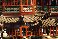 Shanghai. China. Yu Yuan Tea House, detail