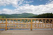 Mount Chocorua from Chocorua Lake in Tamworth, New Hampshire USA during the summer months