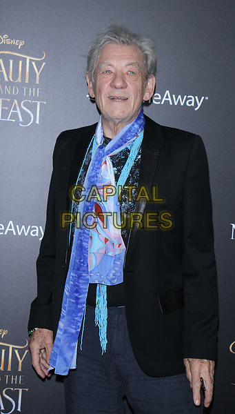 NEW YORK, NY March  13, 2017 ian McKellen attendsWalt Disney Pictures present a special screening of Beauty &amp; the Beast at Alice Tully Hall Lincoln Center in New York March 13 , 2017. <br /> CAP/MPI/RW<br /> &copy;RW/MPI/Capital Pictures