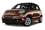 Stock pictures of low aggressive front three quarter view of a 2018 Fiat 500L Lounge 5 Door Mini Van