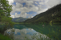 Lake Haldensee, Nesslewangle, Reutte district. Austria.The Alps