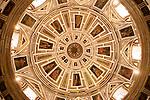 Baroque church with its beautifully decorated dome, Iglesia Santo Cristo de la Salud, Malaga, Spain