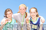 The medal winners from the forth class 200m at the Kerry Primary School Sports County Finals in An Riocht Castleisland l-r: Kathy McCarthy Spa NS Bronze, Christine Cooper Gaelscoil Faithleann Gold and Siobhain Fitzgerald Boherbue NS Silver