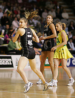 24.07.2007 Silver Ferns Adine Wilson in action during the Silver Ferns v Australia second netball test in Adelaide, Australia. Mandatory Photo Credit ©Michael Bradley. **$150 + GST USAGE FEE DOES APPLY**