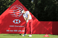 Ian Poulter (ENG) on the 9th tee during the 2nd round of the WGC HSBC Champions, Sheshan Golf Club, Shanghai, China. 01/11/2019.<br /> Picture Fran Caffrey / Golffile.ie<br /> <br /> All photo usage must carry mandatory copyright credit (© Golffile   Fran Caffrey)