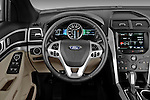 Steering wheel view of a 2011 Ford Explorer XLT