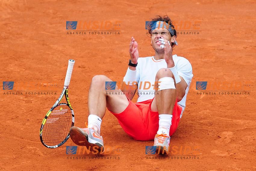 joie de Rafael Nadal (esp) en fin de match <br /> Parigi 9/6/2013<br /> Tennis Roland Garros <br /> Finale Uomini <br /> Foto Panoramic / Insidefoto<br /> ITALY ONLY