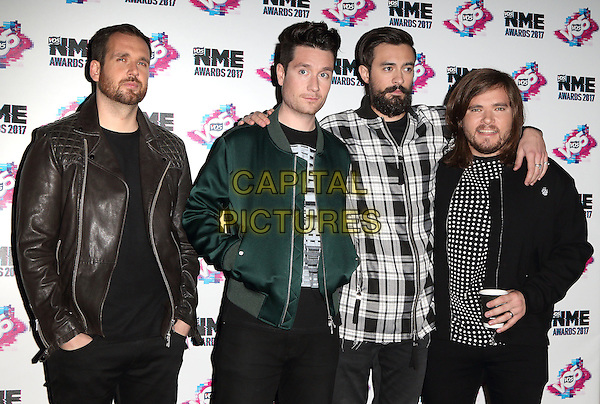 Bastille at The VO5 NME Awards 2017 at the O2 Academy, Brixton, London on February 15th 2017<br /> CAP/ROS<br /> &copy;Steve Ross/Capital Pictures