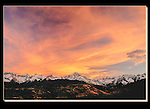 Sneffels Range at sunset in autumn, Telluride, Colorado. John guides custom photo tours in the Sneffels Range and throughout Colorado.
