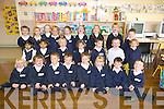 Scoil Clocher Daingean Junior Infants pupils enjoying their first day at school on Monday morning. Front from left: Kately Hughes, Max O? Nuallain O? Cinne?ide, Kiernan O? Mo?rain, Tommy Lynch, Tadhg O? Connell, Abbie Ni? Laoithe, Thomas Flahive, Joe O? Lionnain. Middle from left: Prova Ta-sen Ali?, Anita Amin, Harry O? Currain, Rori Ni? Chroimi?n, James Saunders, Sean Mac Ginne?a, Aoife Ni? Dhonnagain. Back from left: Sean de Ro?iste, Aisha Scharer, Isabel Ni? Chealbhain, Lukne Balesevioiute, Sarah Ni? Chomchu?in, Be?ibhinn Nic a' tSi?thigh, Eva Skaivydoite, Meidas Vizbaras, Liam Mac a' tSiu?il.