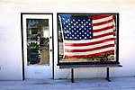 American Flag in window, this photo was taken on one of my photo walk about's in Venice Beach California on April 30, 2017. ©Fitzroy Barrett