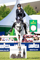 AUS-Isabel English rides Feldale Mouse during the DHL-Preis CICO3* Teilprüfung Springen. 2017 GER-CHIO Aachen Weltfest des Pferdesports. Friday 21 July. Copyright Photo: Libby Law Photography
