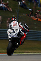 June 25, 2010 - Assen, Holland - Jorge Lorenzo powers his bike during practices of the Dutch Grand Prix at Assen, Holland, on June 25, 2010. (Photo Andrew Northcott/Nippon News)..