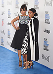 SANTA MONICA, CA - FEBRUARY 25: Actresses Kerry Washington (L) and Janelle Monae attend the 2017 Film Independent Spirit Awards at the Santa Monica Pier on February 25, 2017 in Santa Monica, California.
