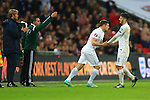 James Milner replaces Adam Lallana of England - England vs. Slovenia - UEFA Euro 2016 Qualifying - Wembley Stadium - London - 15/11/2014 Pic Philip Oldham/Sportimage
